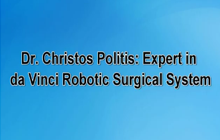 Dr. Christos Politis: Expert in da Vinci Robotic Surgical System