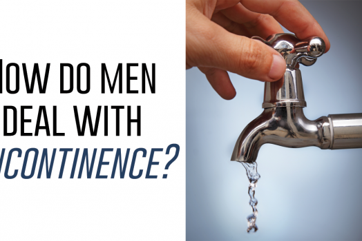 How do men deal with incontinence?